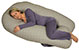 Back N Belly Chic Contoured Body Pregnancy Pillow