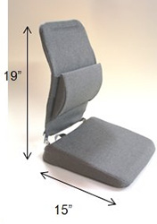 Back Support Memory Foam Car Seat Cushion - Sacro Ease BRSCMW
