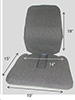 Tailbone Seat Back Rest Cushion - Sacro Ease Trimet RX