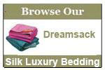 Dreamsack Comfort Zone - Silk Sheets, Silk Comforter Cover, Silk Duvet Cover, Silk Coverlet, Silk Pillowcases, Silk Throws, Silk Blankets, Silk Robes, Silk Sleep Sack, Silk Travel Blanket, More...