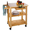 Rolling Kitchen Cart - Microwave