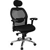 Super Mesh Chair With Mesh Back, Knee Tilt Control And Mesh Fabric Seat