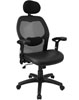 Super Mesh Chair With Mesh Back, Headrest And Italian Leather Seat