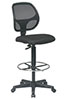 Deluxe Mesh Back Drafting Chair with Adjustable Footring - Office Star Chair DC2990