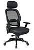Office Star Space Chair 27008 - Mesh Back Managers Chair with Leather Seat