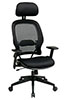 Office Star Space Chair 55403 - Mesh Managers Chair with Adjustable Headrest