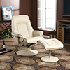 Recliner and Ottoman - Bonded Leather