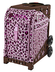 Zuca Pink Leopard Bag with Frame Flashing Wheelset